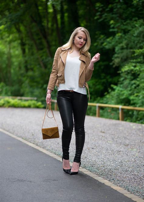 The Suede Biker Jacket With Black Leather Pants
