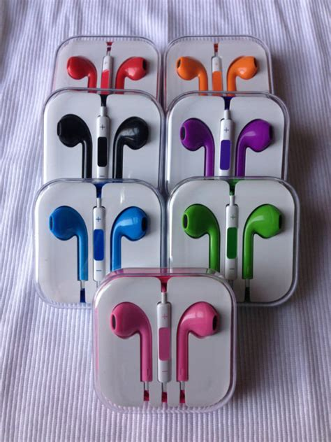 apple earpods colors new colors earpods blue pink green from onestopshop313 on