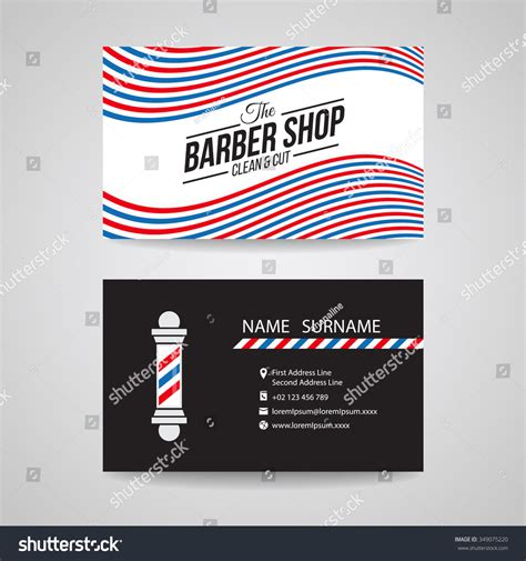 business card red blue white wave stock vector