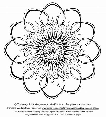 Designs Mandala Coloring Pages Printable Adults Adult