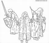 Narnia Chronicles Coloring Pages Susan Lucy Prince Caspian Wardrobe Gifts Printable Edmund Print Template Three Them Faun сoloring sketch template