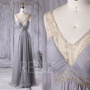 2017 light gray bridesmaid dress lace illusion neck With light gray wedding dress