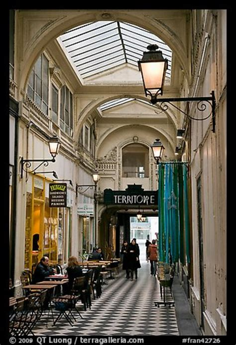 picturephoto covered passage  streets paris france