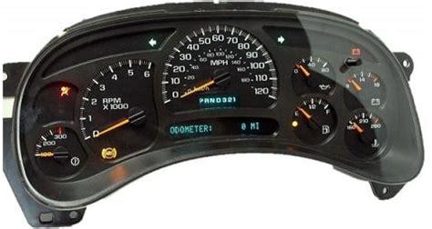 vehicle repair manual 2003 chevrolet silverado 2500 instrument cluster 2003 2004 chevrolet silverado 2500hd gmc sierra 3500 reman instrument cluster w trans temp