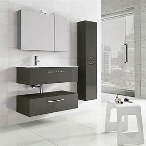 Meuble Salle De Bain 90 : meuble salle de bain 90 cm 2 tiroirs play ~ Teatrodelosmanantiales.com Idées de Décoration