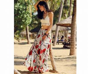 d8bd6009d463 new bohemian style summer beach dress sexy women two piece outfits red  vestido vintage hippie