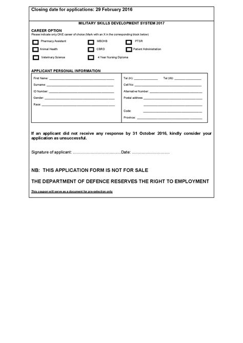 Msds Author Resume by Sa Health Services Application Forms 2016 Pdf