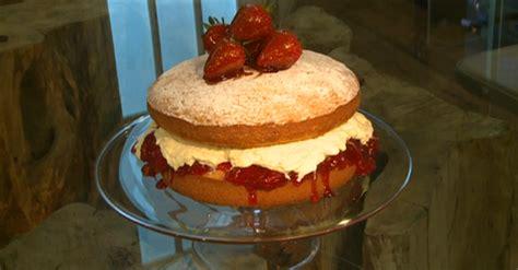 A classic, simple victoria sponge. James Martin strawberry filled Victoria sponge cake recipe on Saturday Kitchen - The Talent Zone
