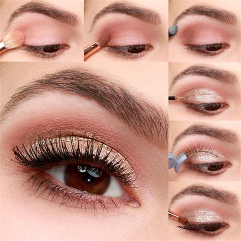 lulus   gold  blush valentines day eye makeup