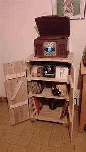 Meuble Pour Tourne Disque : range cd vinyles et porte tourne disque par frey sur l ~ Teatrodelosmanantiales.com Idées de Décoration