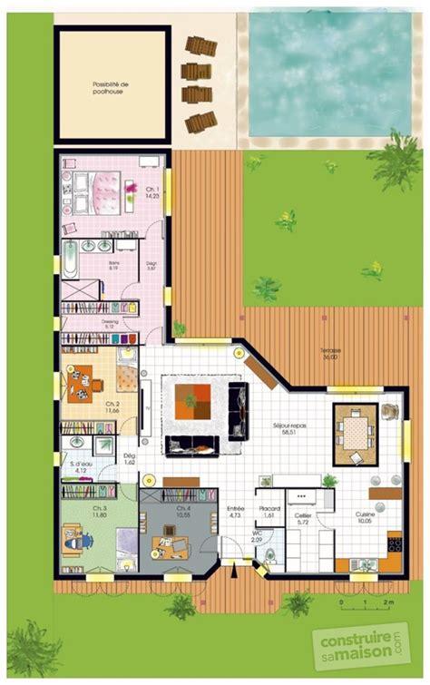 les chambres d une maison plan d une maison plain pied 4 chambres maison moderne