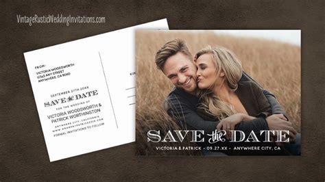 save  date cards vintage rustic wedding invitations
