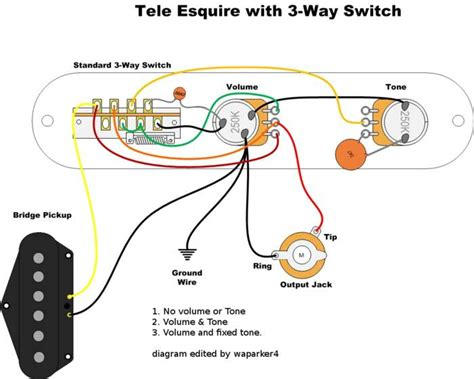 esquire wiring question the gear page