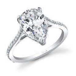 pear shaped engagement rings stunning pear shape engagement ring