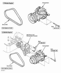 1991 Toyota Previa Serpentine Belt Routing And Timing Belt