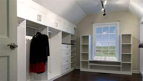 Work In Closet Design by Hanging Closet Rod From Sloped Ceiling To Convert Bedroom