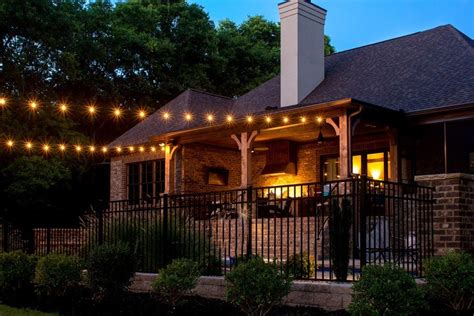 string lights for patio custom string lights light up nashville design and