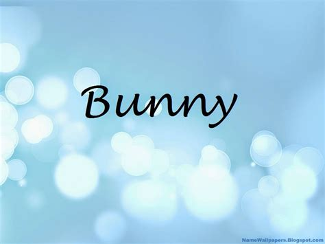 Download Bunny Name Wallpapers Gallery