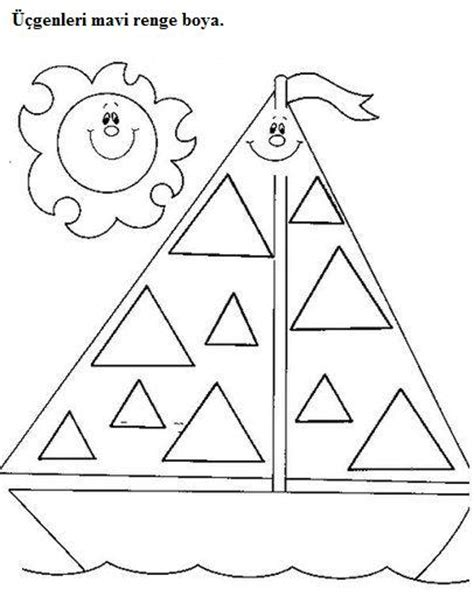 triangle worksheets for preschool trace and color 402 | preschool triangle worksheets trace and color 8