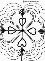 Kaleidoscope Coloring Pages Printable Hearts Triple Heart Colouring Bing Adult Drawings Powered Results Open Kaleidoscopes sketch template