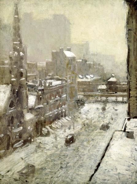 paul cornoyer winter   city art print global