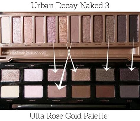 ulta rose gold palette dupes   urban decay naked