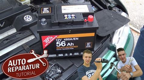 batterie richtig wechseln autobatterie wechsel diy