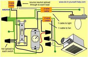 Broan Exhaust Fan And Light Combo Wiring Diagram