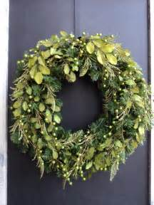 modern chartreuse christmas wreath by melanieleedesign on etsy