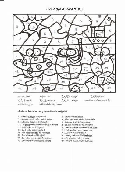 Coloring Magic Coloriage Magique Pages French Lesson