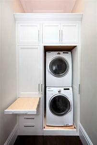 Small bathroom ideas with washer and dryer hidden laundry for Bathroom ideas with washer and dryer