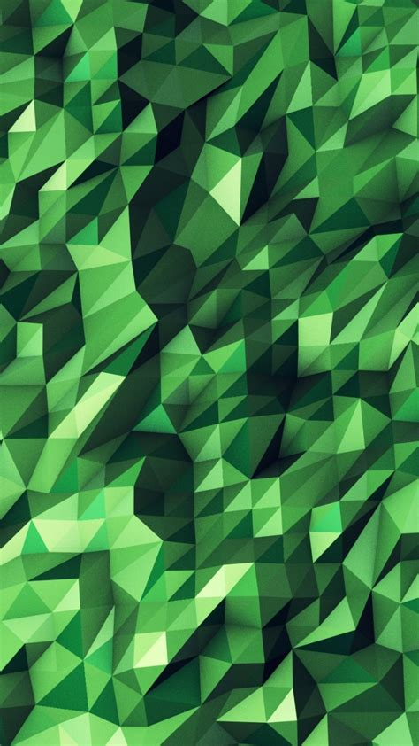 Abstract Geometric Shapes Wallpaper by 720x1280 Green Abstract Geometric Shapes Desktop Pc And