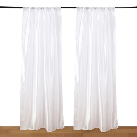 nk home 2 white semi sheer curtains for living room