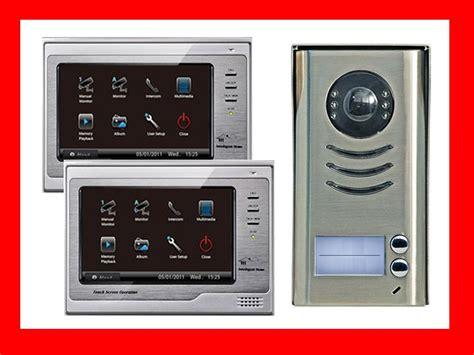 sprechanlage mit vt592 2 familienhaus videosprechanlage 2x vt692 sony ccd