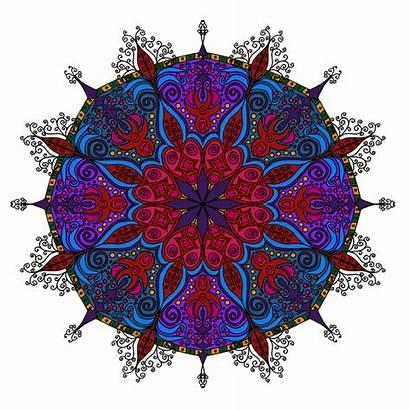 Mandala Mandalas Detailed Coloring Colored Coloured Colour