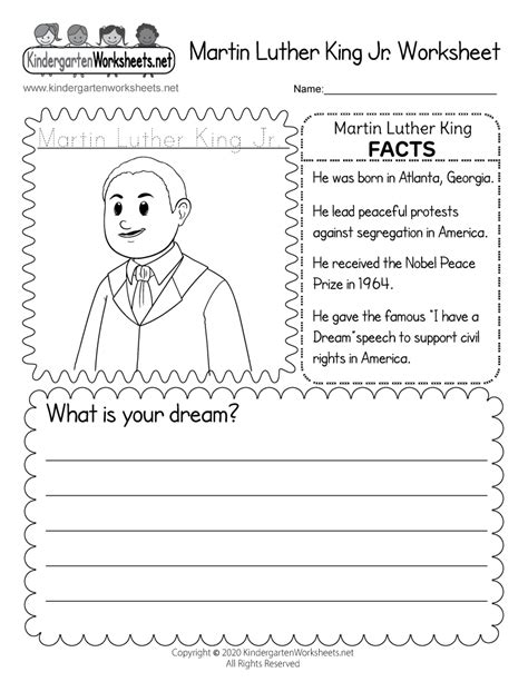 martin luther king jr coloring worksheet