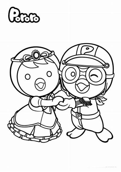 Pororo Coloring Pages Colouring Sheet Forkids Petty