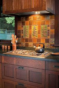 artful tile for kitchen bath arts crafts homes and With kitchen cabinets lowes with arts and crafts wall art