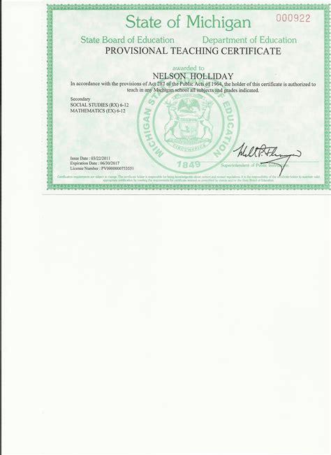 bureau of educator certification nelson holliday s e portfolio