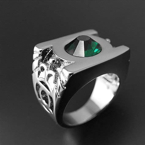 Green Lantern Platinum Plated Ring  Jagfoxm. Mens Crystal Wedding Wedding Rings. Roman Rings. Eagle Coin Rings. 8.5 Carat Engagement Rings. History Rings. Hindi Rings. Traditional Wedding Welsh Wedding Rings. Marbled Rings