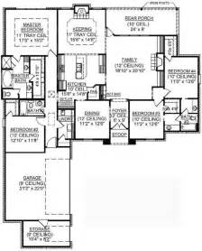 open floor plan house plans one story 653722 1 story 4 bedroom country house plan house plans floor plans home plans