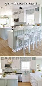 ocean blue graphics beach themed kitchens beach themed With kitchen colors with white cabinets with ocean wave wall art