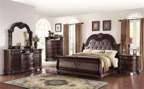 stanley sleigh marble king bedroom set  furniture place