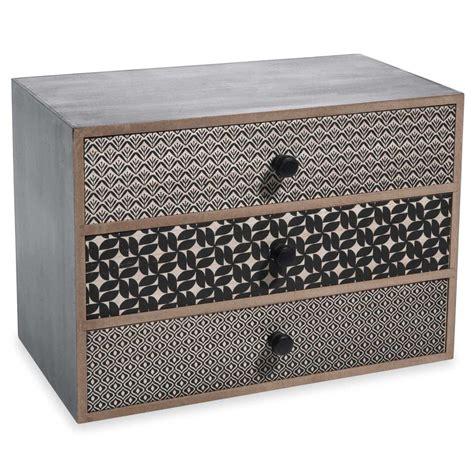 maisons du monde canapes boîte 3 tiroirs en bois noir h 17 cm alya maisons du monde