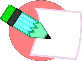 Paper and Pencil Writing Clip Art