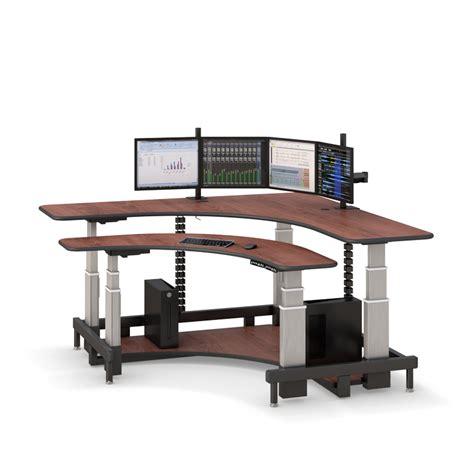 desktop standing desk corner standing computer desk afcindustries