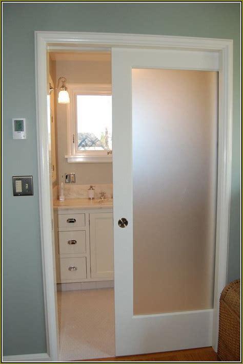 interior pocket door  translucent glass insert glass