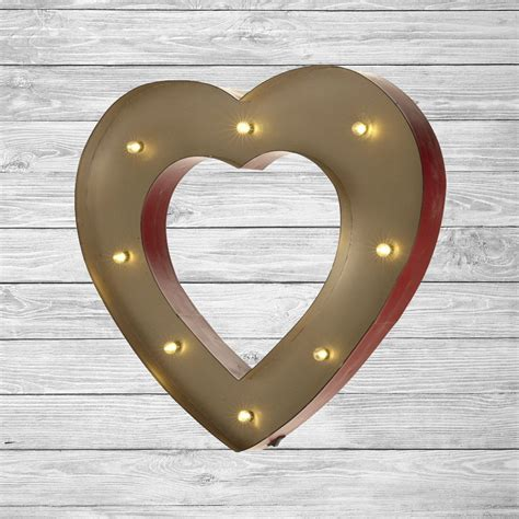 freestanding led light up heart letter lights numbers marquee letters wall mounted wedding