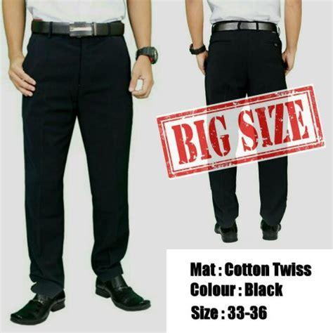 Celana Large Size Wh0106 jual celana formal pria big size hitam celana jumbo