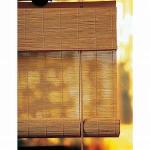 Store Enrouleur Bois : roll 39 up bambou caramel cm castorama portes ~ Premium-room.com Idées de Décoration
